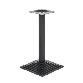 Stahl, lackierte quadratische Stufenbasis, Höhe 720, 400x400